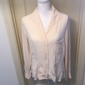 Evan Picone Ivory Silk Shirt NWT